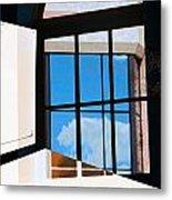 Window Treatment Metal Print by Lenore Senior