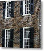Windows At The Clover Hill Tavern Appomattox Virginia Metal Print by Teresa Mucha