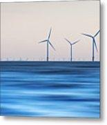 Windturbines, Burbo Bank, Crosby Metal Print by Ian Moran
