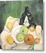 Wine And Fruit Metal Print by Caroline Street