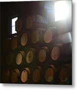 Wine Barrels Metal Print by Viktor Savchenko