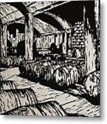 Wine Cellar Metal Print by William Cauthern