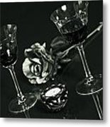 Wine For Two Metal Print by Joana Kruse