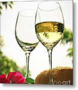 Wine Glasses Metal Print by Elena Elisseeva