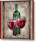 Wine Poetry Metal Print by Sharon Marcella Marston