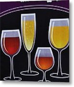 Wine Poster Metal Print by Marsha Heiken