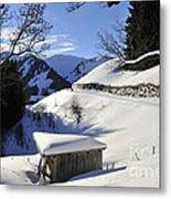 Winter Landscape Metal Print by Matthias Hauser