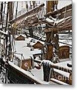 Winter On Deck Metal Print by Heiko Koehrer-Wagner