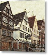 Winterly Old Town Metal Print by Jutta Maria Pusl