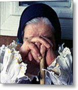 Woman From Maramures Romania Metal Print by Emanuel Tanjala