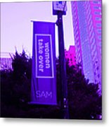 Woman Take Over In Purple Metal Print by Kym Backland