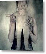 Woman With Doll Metal Print by Joana Kruse