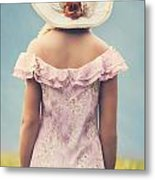Woman With Hat Metal Print by Joana Kruse