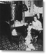 Woman Working In Basement, From Caption Metal Print by Everett