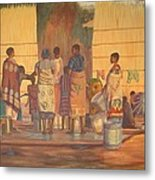 Women At Bolehole Metal Print by Nisty Wizy