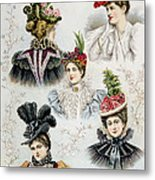 Womens Hat Designs For April, 1897 Metal Print by Everett