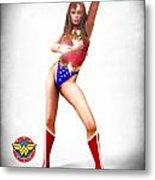 Wonder Woman Metal Print by Frederico Borges