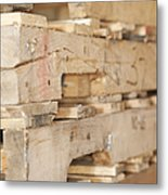 Wood Pallets Metal Print by Shannon Fagan
