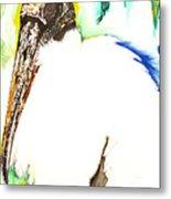 Wood Stork Metal Print by Anthony Burks Sr