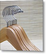Wooden Clothes Hangers Metal Print by Skip Nall