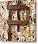 Wooden Vce And Easter Egg Metal Print by Garry Gay