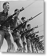World War II, Bayonet Practice Metal Print by Everett
