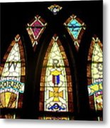 Wrc Stained Glass Window Metal Print by Thomas Woolworth