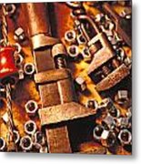 Wrench Tools And Nuts Metal Print by Garry Gay