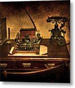 Writers Desk Metal Print by Svetlana Sewell