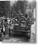 Wwii Liberation Of France Metal Print by Granger
