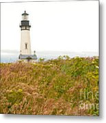 Yaquina Head Lighthouse In Oregon Metal Print by Artist and Photographer Laura Wrede