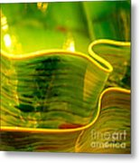 Yellow And Green Metal Print by Artist and Photographer Laura Wrede