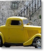 Yellow Coupe Hardtop Metal Print by Jerry L Barrett
