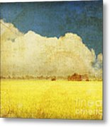 Yellow Field Metal Print by Setsiri Silapasuwanchai