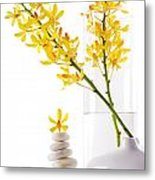 Yellow Orchid Bunchs Metal Print by Atiketta Sangasaeng