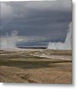 Yellowstone Geysers2 Metal Print by Charles Warren