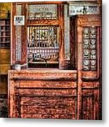 Yesterday's Post Office Metal Print by Susan Candelario