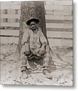 Young African American Sitting Metal Print by Everett