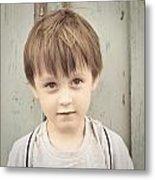 Young Boy Metal Print by Tom Gowanlock