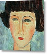 Young Brunette Metal Print by Modigliani