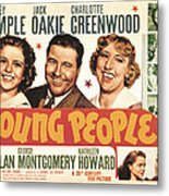 Young People, Shirley Temple, Jack Metal Print by Everett
