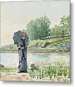 Young Woman Metal Print by Winslow Homer