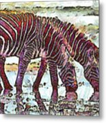Zebras Metal Print by George Rossidis