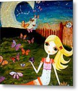 Zodiac Virgo Metal Print by Laura Bell