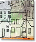 Houses By The River Metal Print by Linda Woods
