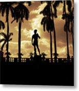 Replica Of The Michelangelo Statue At Ringling Museum Sarasota Florida Metal Print by Mal Bray