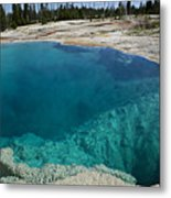 Turquoise Hot Springs Yellowstone Metal Print by Garry Gay