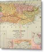 Map: Puerto Rico, 1900 Metal Print by Granger