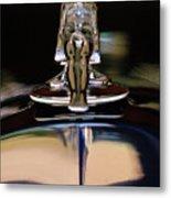 1934 Packard Hood Ornament 3 Metal Print by Jill Reger