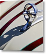 1949 Custom Buick Hood Ornament Metal Print by Jill Reger